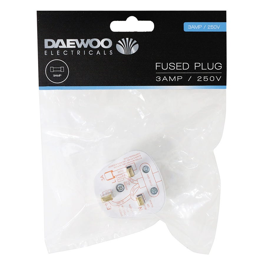 Compare retail prices of Daewoo 3A Fused Plug to get the best deal online