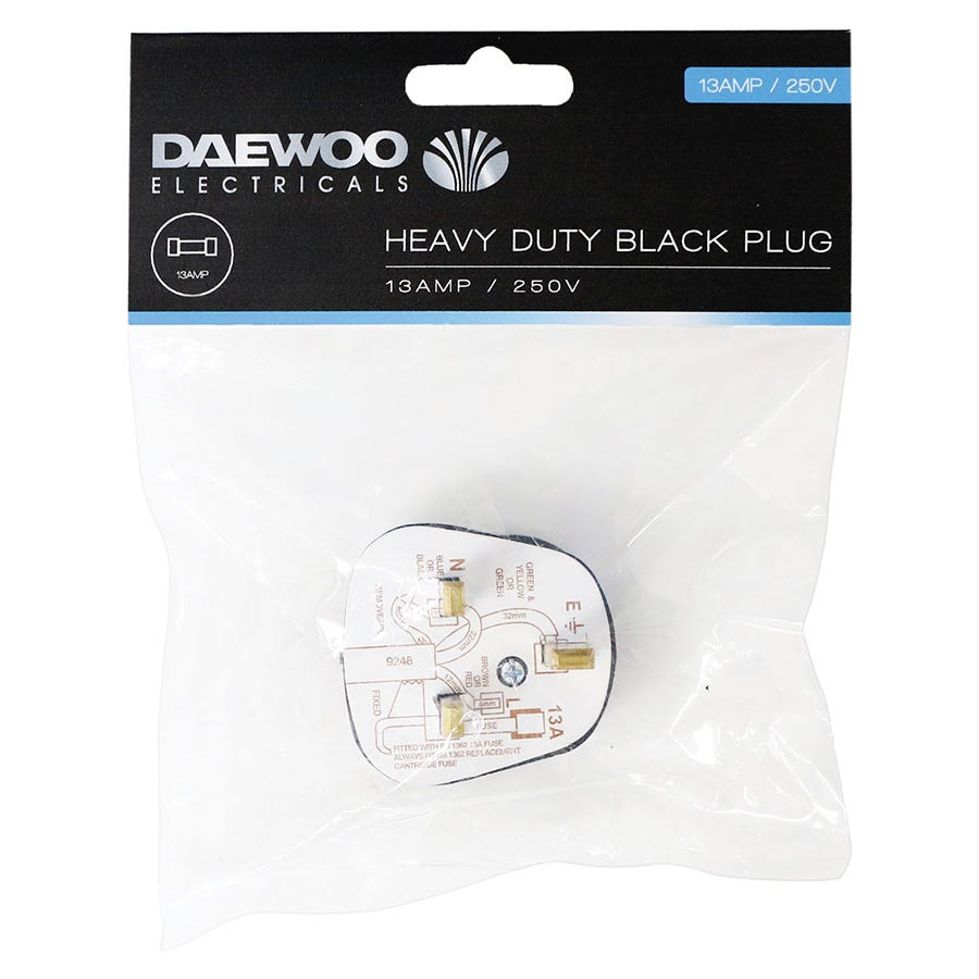 Compare retail prices of Daewoo Heavy Duty Black Plug to get the best deal online