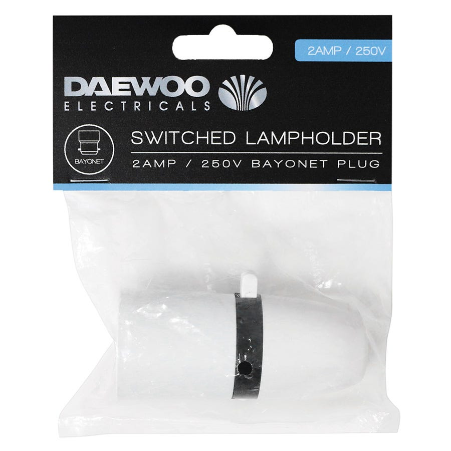 Compare retail prices of Daewoo Switched Lampholder Bayonet Plug - 2 Amp to get the best deal online