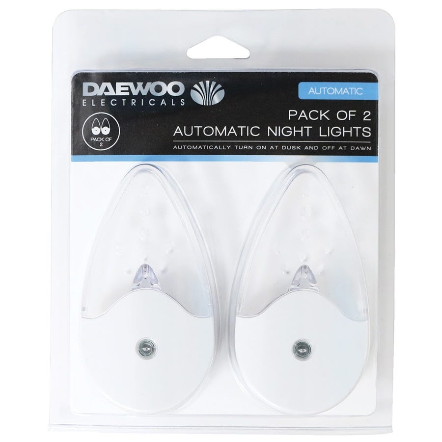 Compare cheap offers & prices of Daewoo Automatic Night Lights - Pack of 2 manufactured by Daewoo