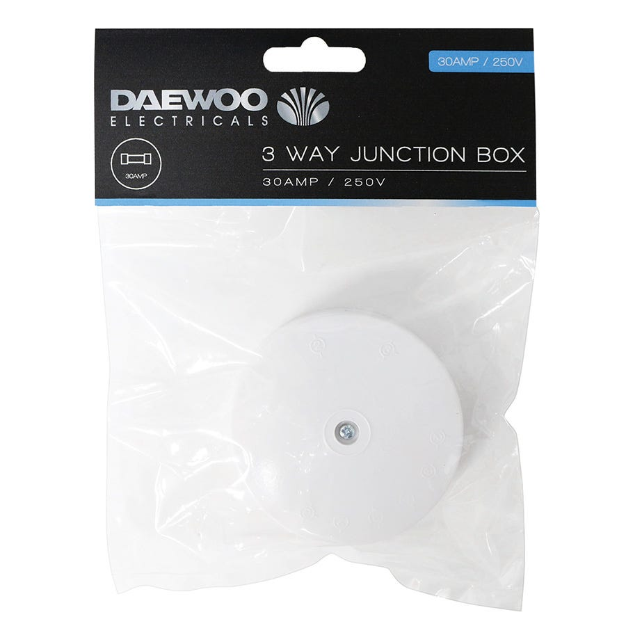 Compare cheap offers & prices of Daewoo 3-Way Junction Box - 30 Amp manufactured by Daewoo