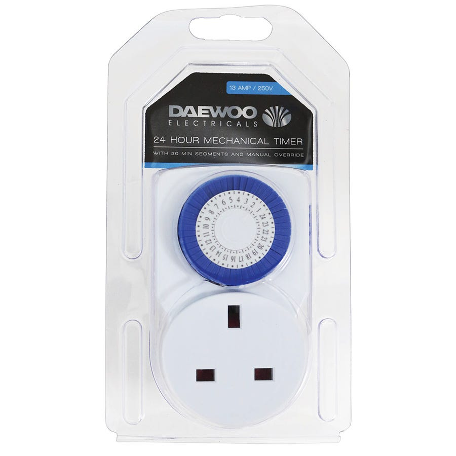 Compare cheap offers & prices of Daewoo 24-Hour Mechanical Timer - 13 Amp manufactured by Daewoo