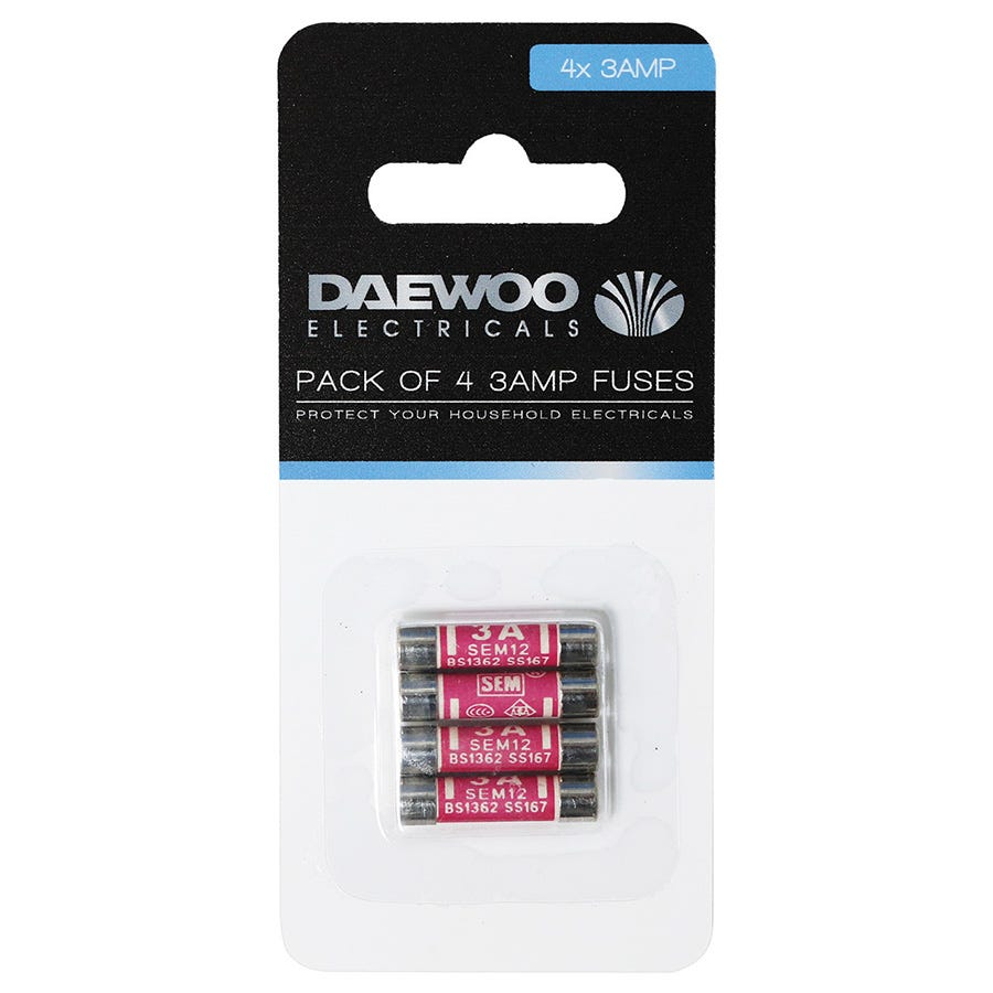 Compare cheap offers & prices of Daewoo 3-Amp Fuses - 4 Pack manufactured by Daewoo