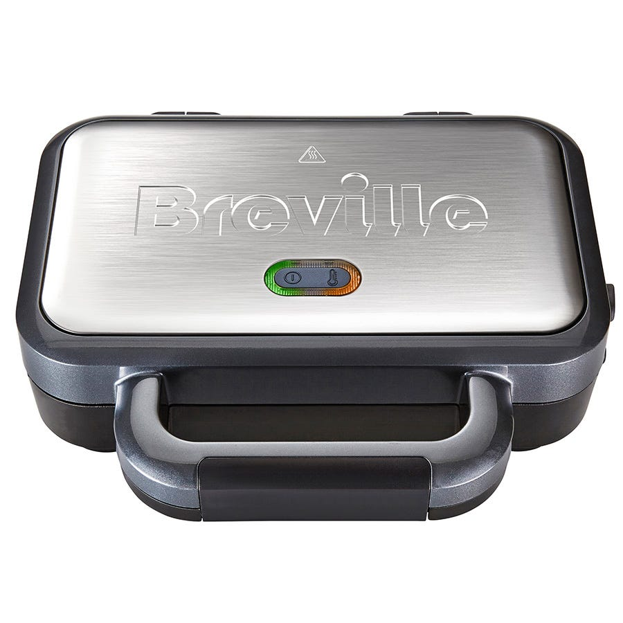 Breville VST041 Deep-Fill 900W Sandwich Toaster - Black and Silver