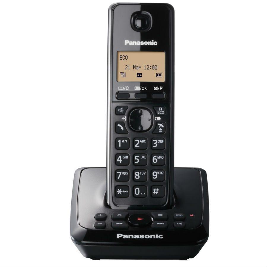 Panasonic Digital Cordless Telephone with Alarm Clock and Answering Machine - Single