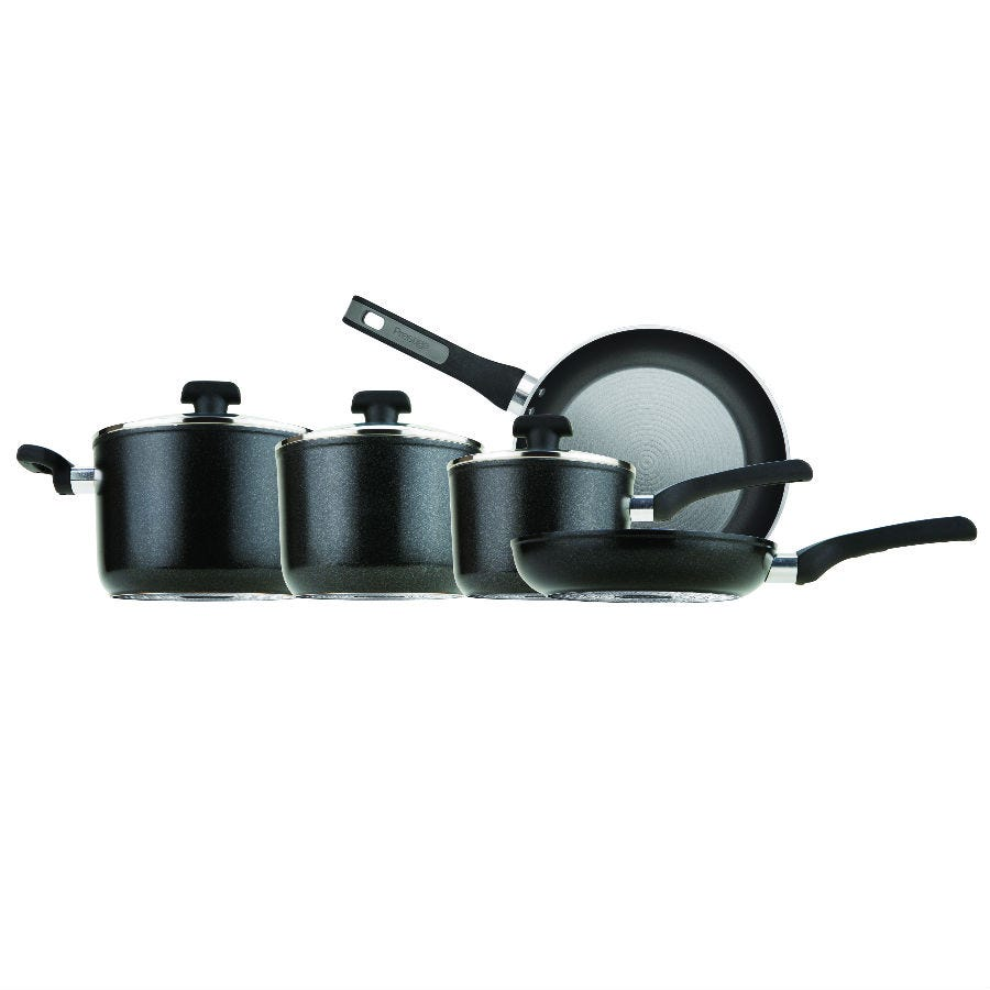Compare retail prices of Prestige 5-Piece Dura Forge Pan Set - Black to get the best deal online