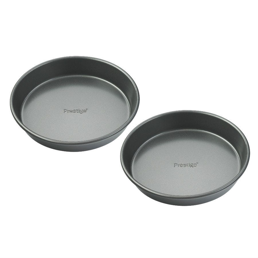 Compare retail prices of Prestige 8 Inch Shallow Round Cake Tins - Set of 2 to get the best deal online