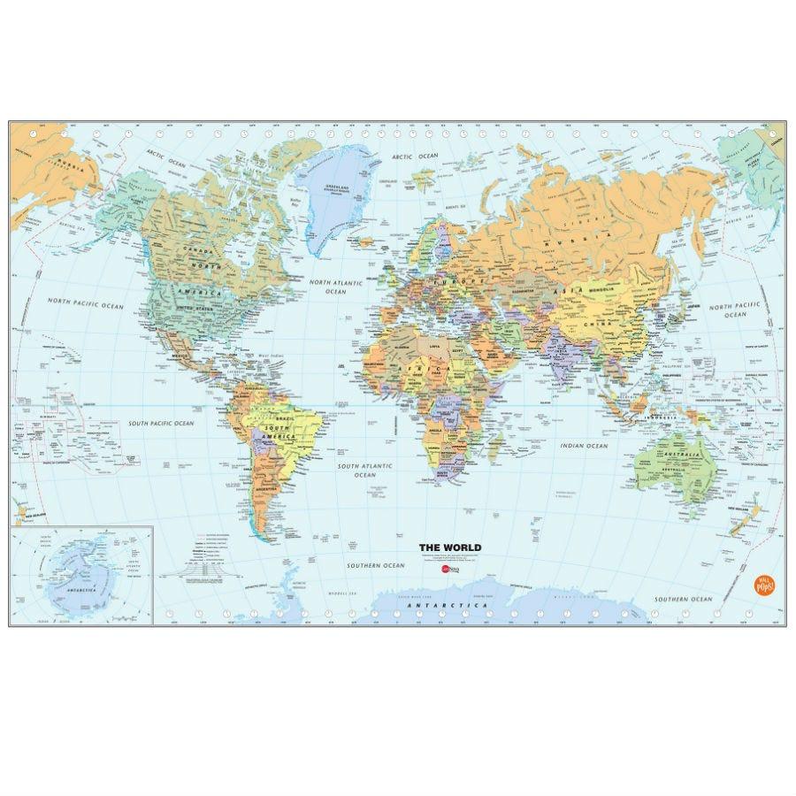 Compare prices for Fine Decor Fine Decor Dry-Erase World Map Wall Decal
