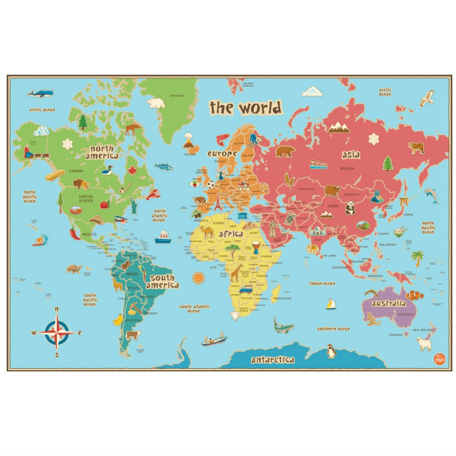 Compare prices for Fine Decor Fine Decor Kids Dry-Erase World Map Wall Decal