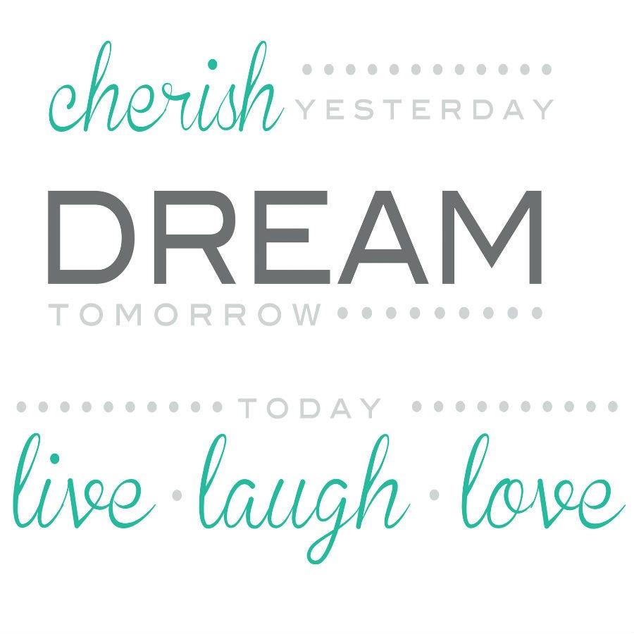 Compare prices for Fine Decor Fine Decor Cherish Yesterday - Dream Tomorrow Wall Quote