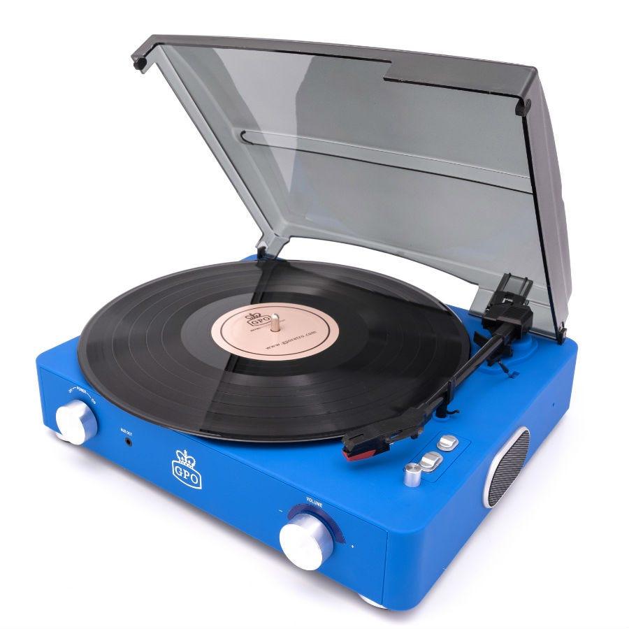 Compare prices for GPO Stylo 2 Retro Record Player - Blue