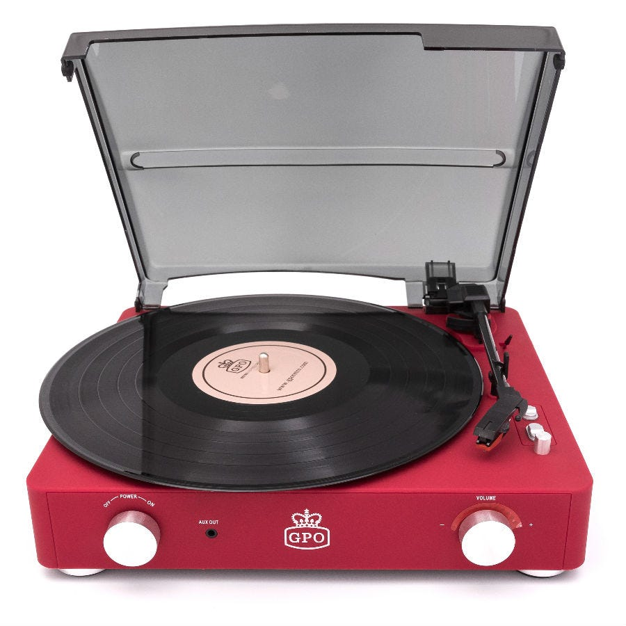 Compare prices for GPO Stylo 2 Retro Record Player - Red