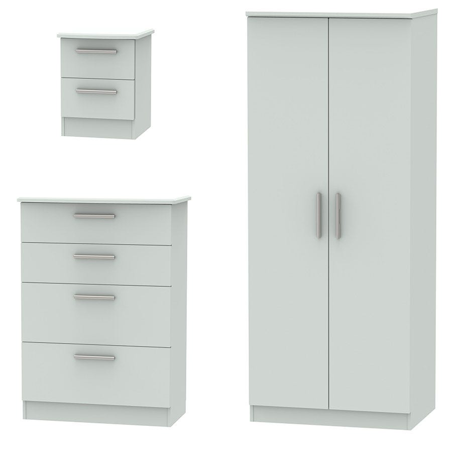 Fourisse 3-Piece Bedroom Set - Grey