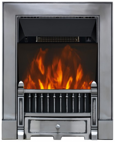 Focal Point Fires Victorian Cast Iron LED Inset Electric Fire - Black