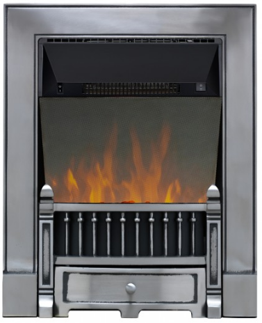 Focal Point Fires Victorian Cast Iron LED Reflection Inset Electric Fire - Black