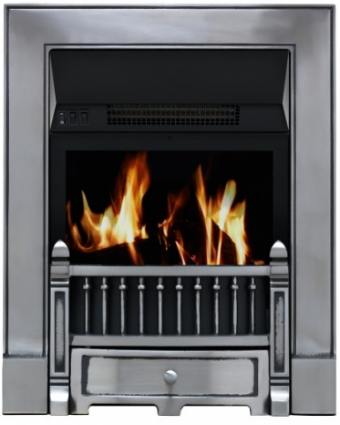 Focal Point Fires Victorian Full Depth Radiant Cast Iron Gas Fire - Satin Chrome