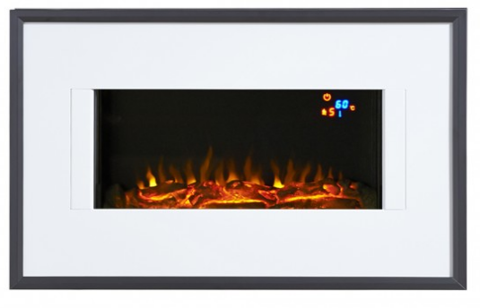 Focal Point Fires Valeria LED Wall Mounted Electric Fire - Chrome