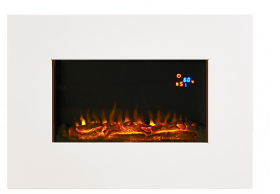 Focal Point Fires FAB LED Wall Mounted Electric Fire - White