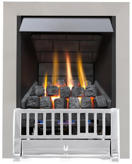 Focal Point Fires Farlam Slimline Radiant Gas Fire - Chrome