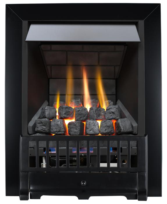 Focal Point Fires Farlam Slimline Radiant Gas Fire - Black