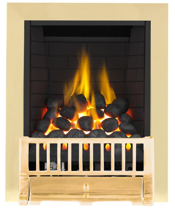 Focal Point Fires Farlam Full Depth Radiant Gas Fire - Brass