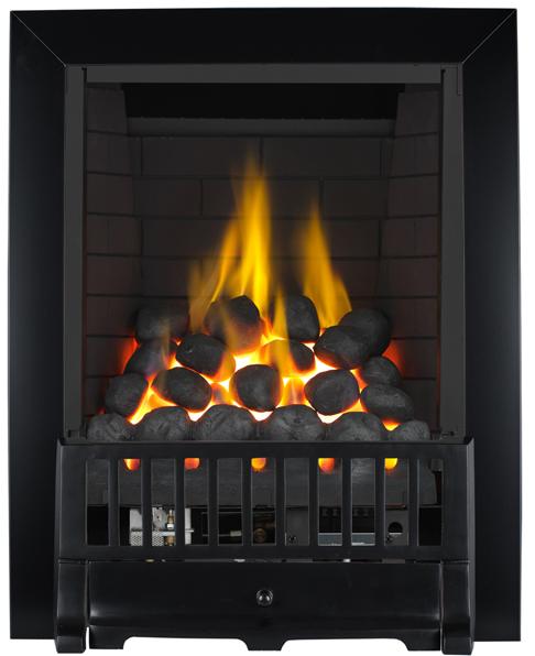 Focal Point Fires Farlam Full Depth Radiant Gas Fire - Black