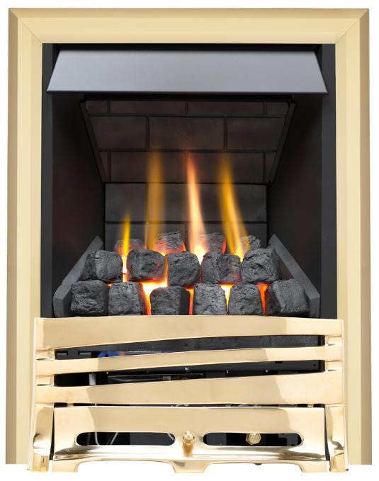 Focal Point Fires Mono Slimline Radiant Gas Fire - Brass