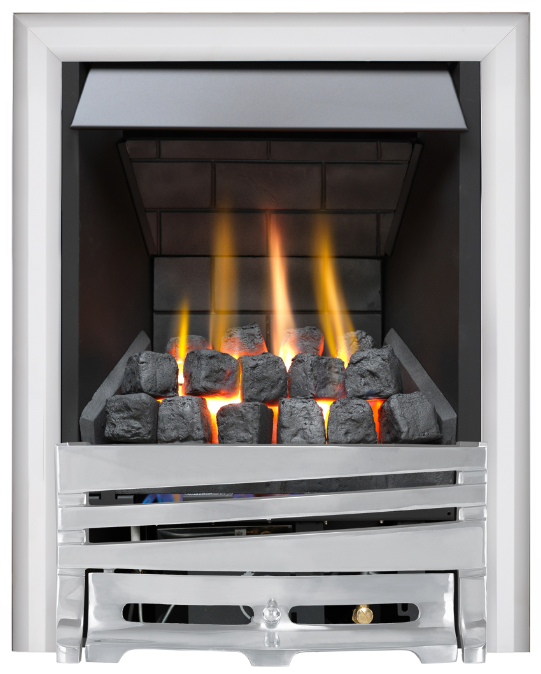 Focal Point Fires Mono Slimline Radiant Gas Fire - Chrome