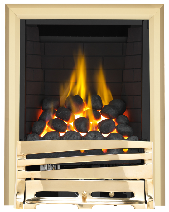 Focal Point Fires Mono Full Depth Radiant Gas Fire - Brass