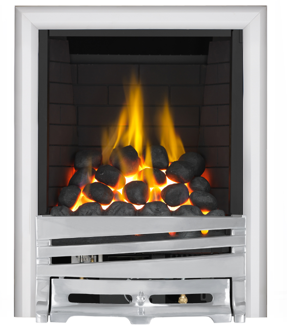 Focal Point Fires Mono Full Depth Radiant Gas Fire - Chrome