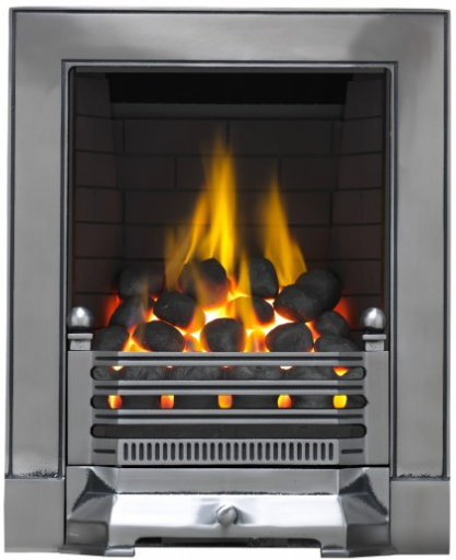 Focal Point Fires Edwardian Full Depth Radiant Cast Iron Gas Fire - Satin Chrome