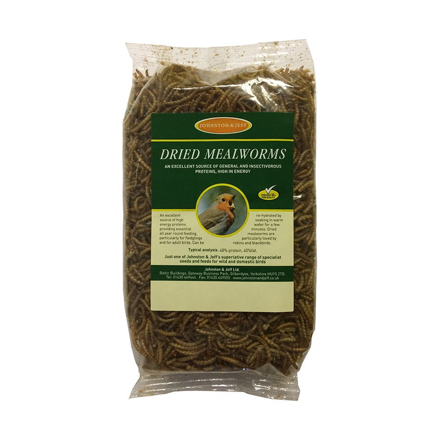 Compare prices for Johnston and Jeff Mealworms - 250g