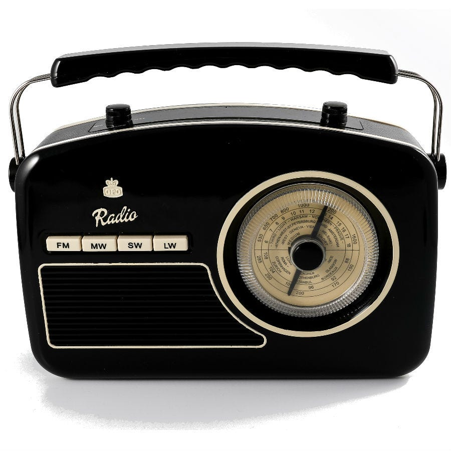 Compare prices for GPO Retro Rydell Four Band Radio - Black