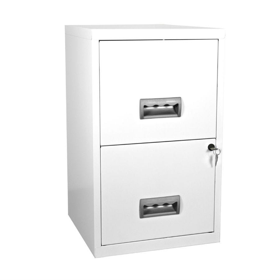 Pierre Henry 2-Drawer Lockable Filing Cabinet - White