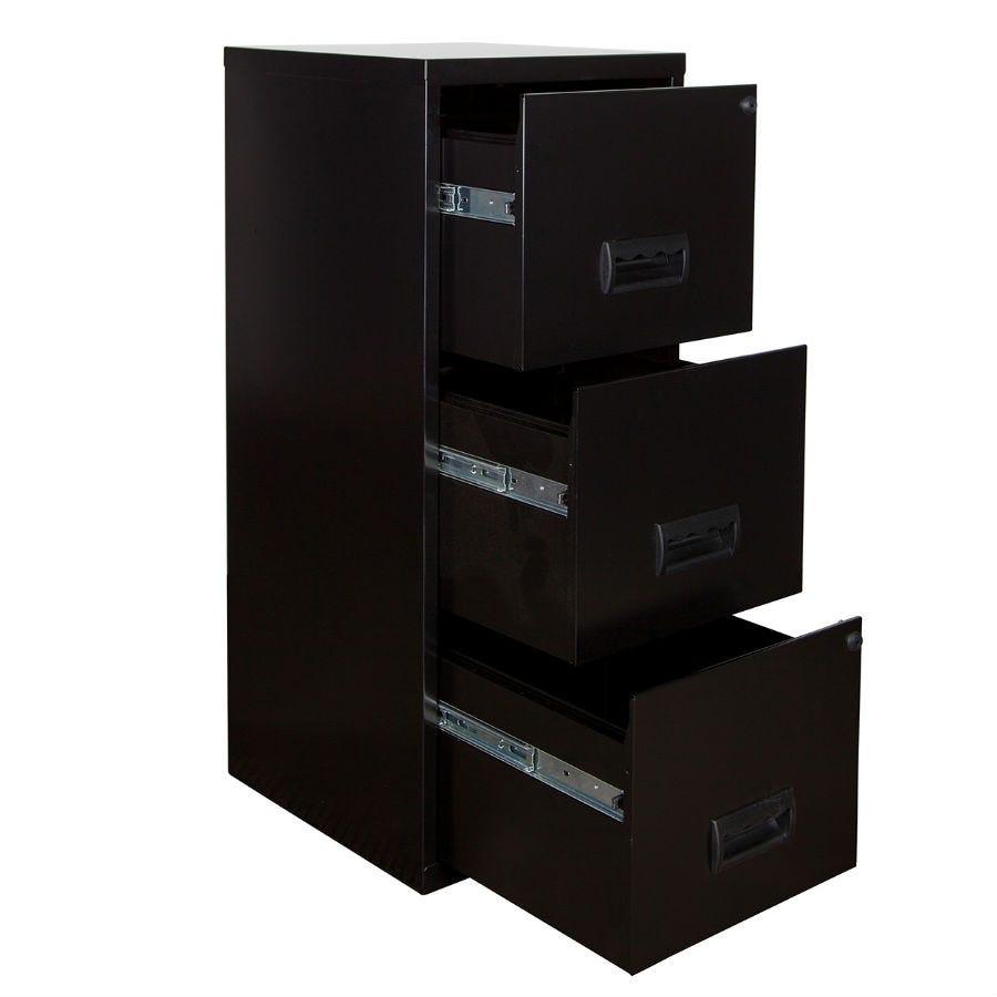 Pierre Henry 3-Drawer Maxi Filing Cabinet - Black