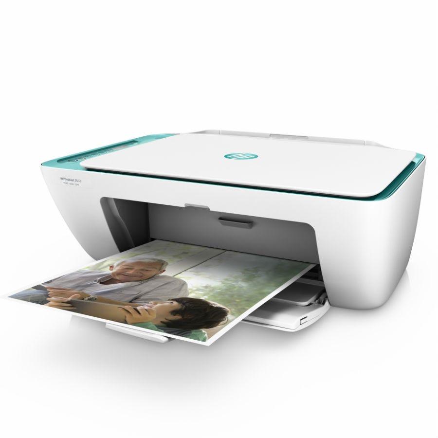 HP DeskJet 2632 All-in-One Wireless Printer - White
