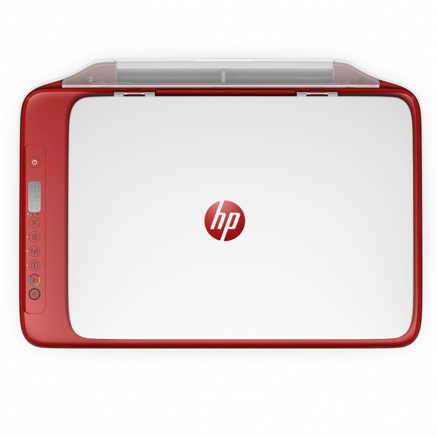 HP DeskJet 2633 All-in-One Wireless Printer - Red