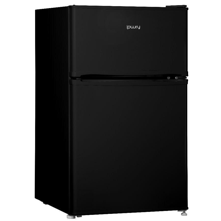 Lowry LUCFF50B 90L Under Counter Fridge Freezer - Black