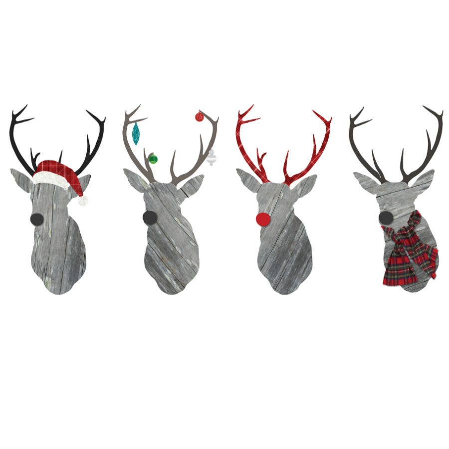 Cheapest price of Fine Decor Wall Pops Large Reindeer Wall Sticker in new is £30.99