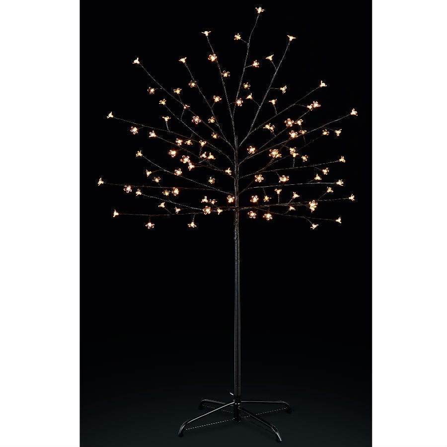 Compare prices for Premier Decoration Ltd Premier White LED Cherry Tree with Timer - 5ft