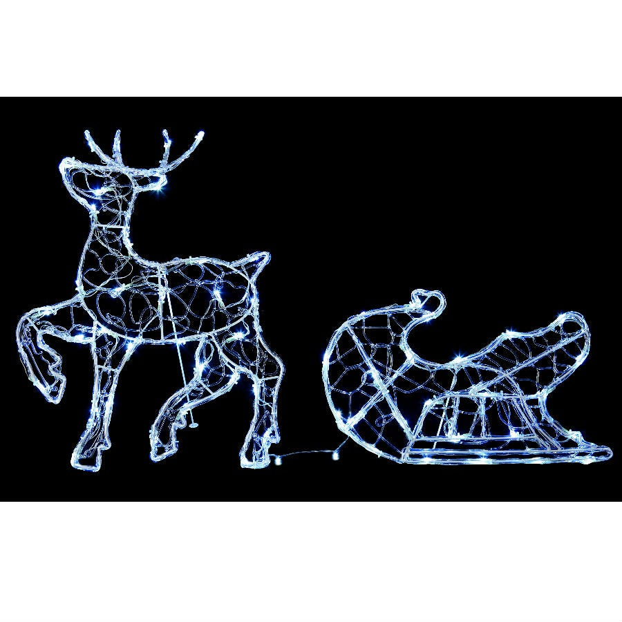 Compare cheap offers & prices of Premier LED Reindeer with Sleigh - 56cm manufactured by Premier
