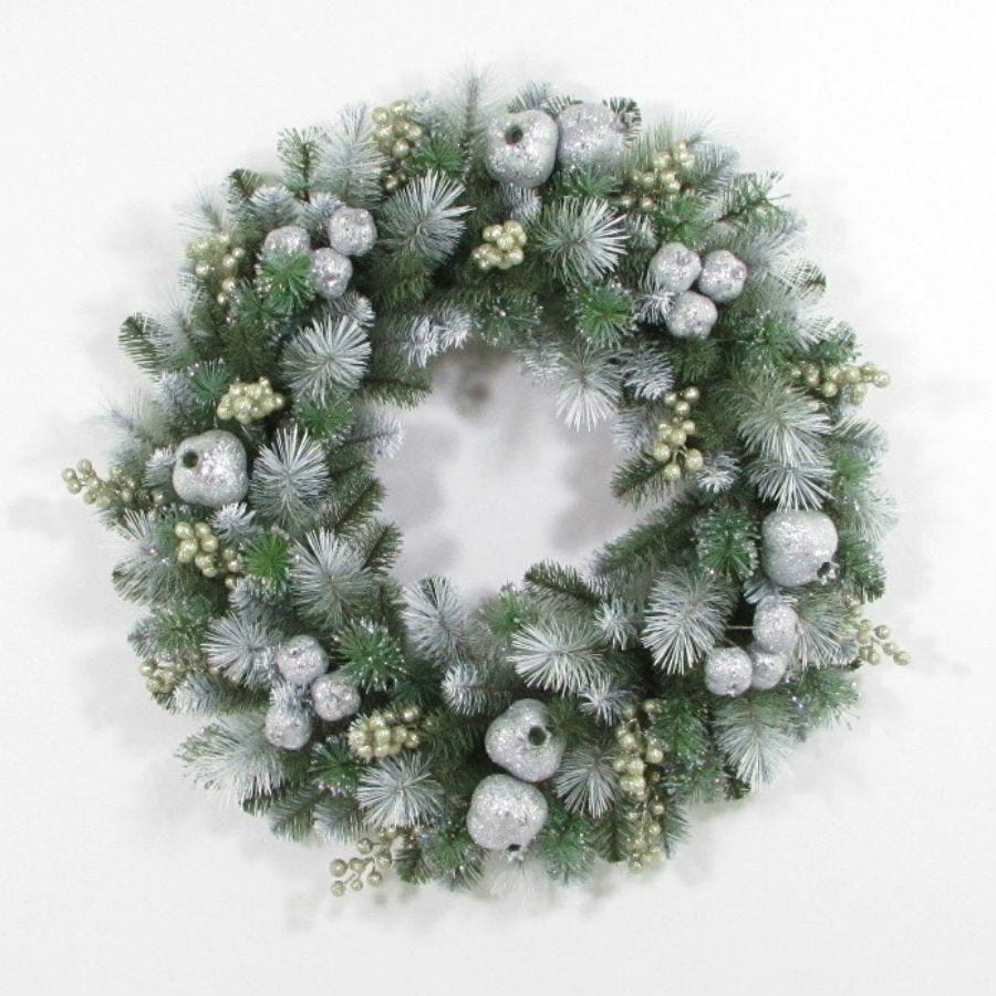 Compare prices for National Tree Company Glittery Pomegranate Pine Wreath