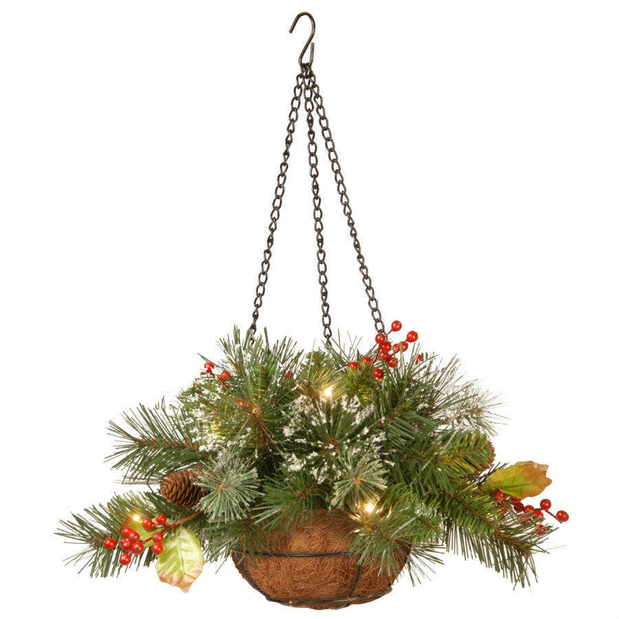 Compare prices for National Tree Company Wintery Pine Hanging Basket