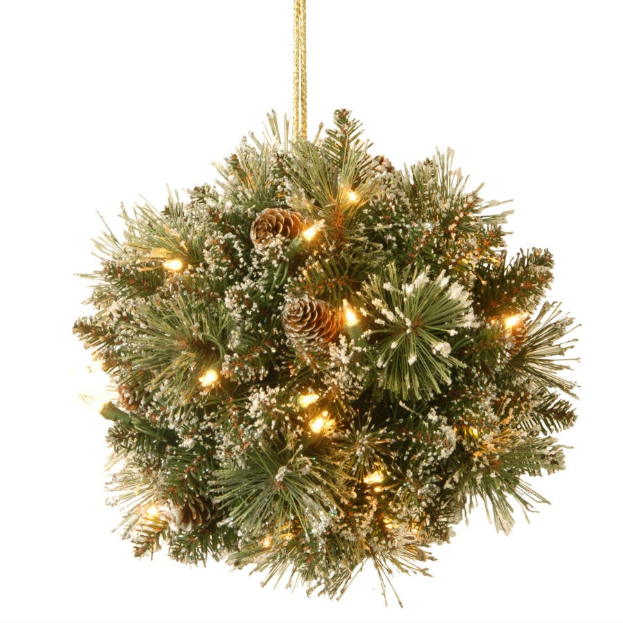 Cheapest price of National Tree Company Glittery Bristle Pine Kissing Ball in new is £39.99