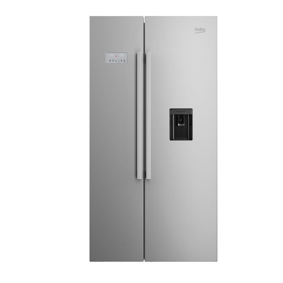 Compare prices for Beko ASD241X American-Style Fridge Freezer - Stainless Steel
