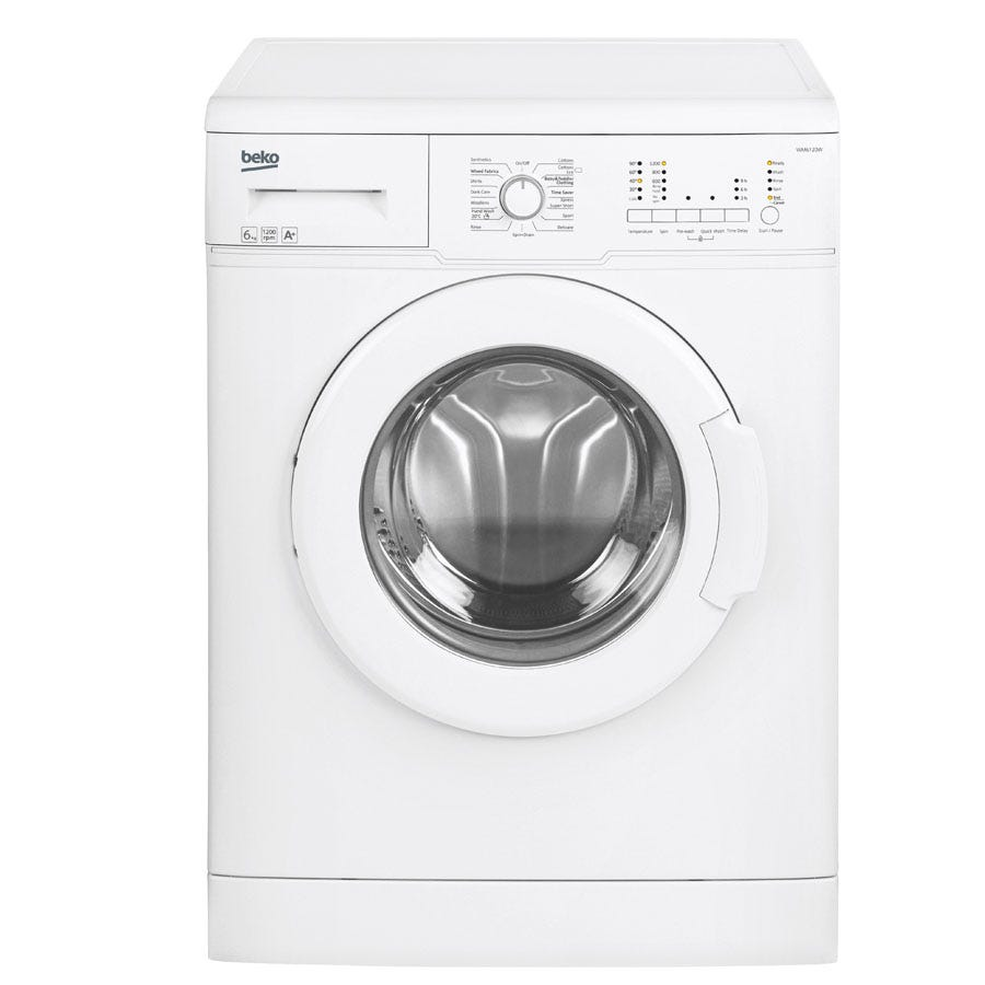 Compare cheap offers & prices of Beko WM6120W 6kg 1200RPM Washing Machine - White manufactured by Beko