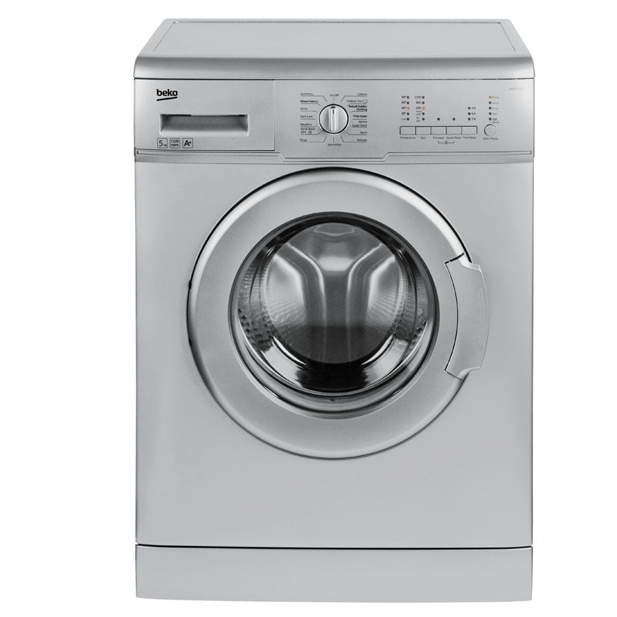 Compare prices for Beko WM5122S 5kg 1200RPM Washing Machine - Silver