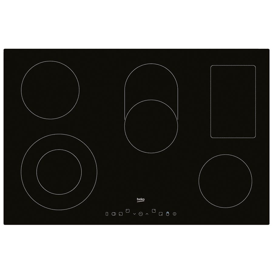 Compare prices for Beko HIC85402T Electric Hob with Touch Control - Black