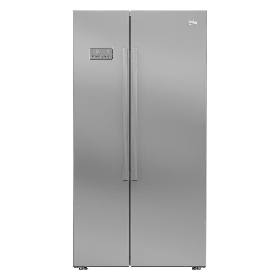 Compare prices for Beko ASL141S American-Style Fridge Freezer - Silver