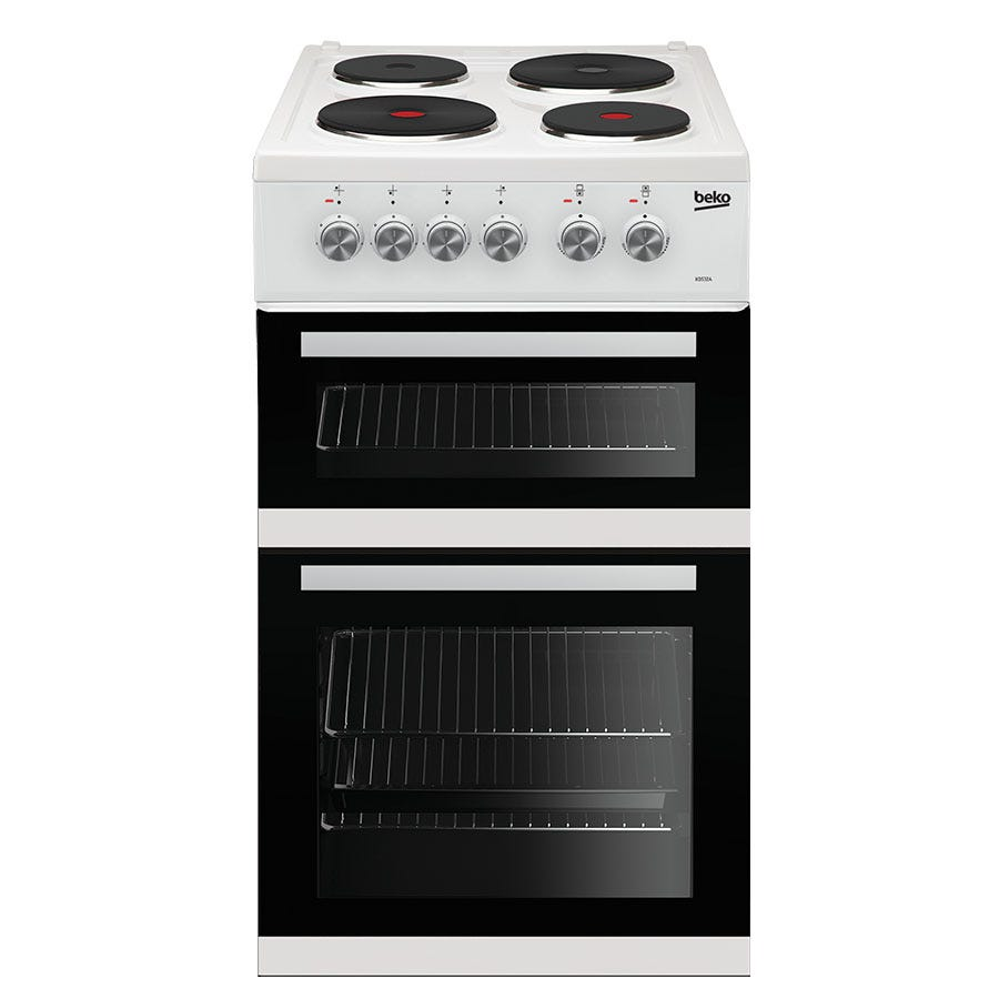 Compare cheap offers & prices of Beko KD532AW Double Oven Electric Cooker - White manufactured by Beko